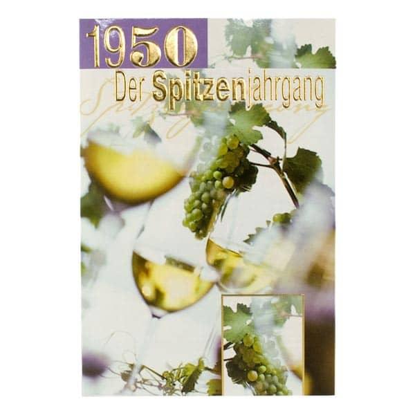 Grußkarte *Spitzenjahrgang 1950* zum Geburtstag