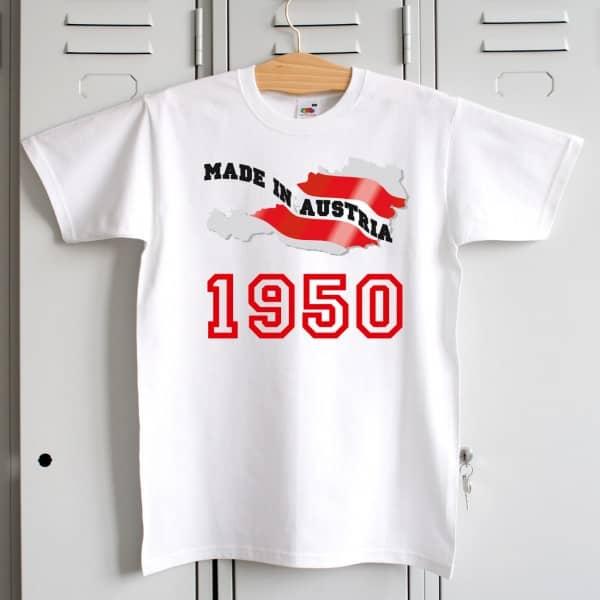 T-Shirt Made in Austria für Österreicher zum Geburtstag