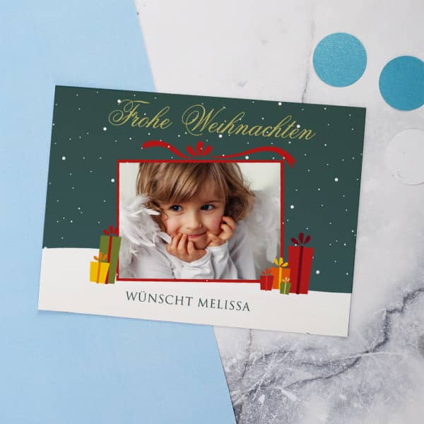 Persönliche Weihnachtskarte mit Foto