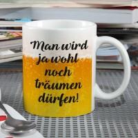 Bier-Tasse mit Wunschtext