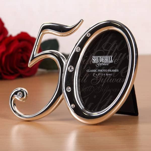 Bilderrahmen - 50 - in Silber mit Strass