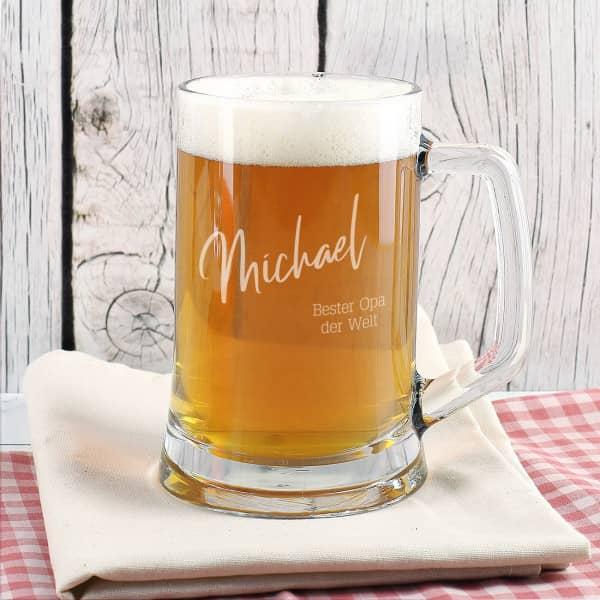 Gravierter Bierkrug für den besten Opa