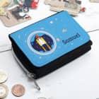 Kindergeldbörse mit Raumschiff und Name
