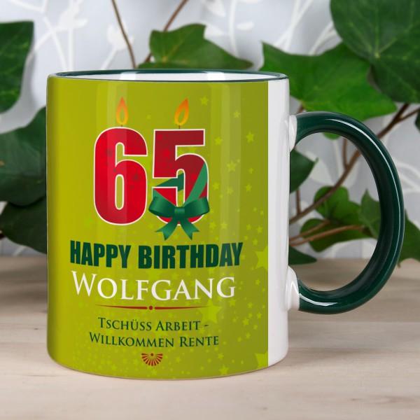Tasse mit großer 65 zum Geburtstag