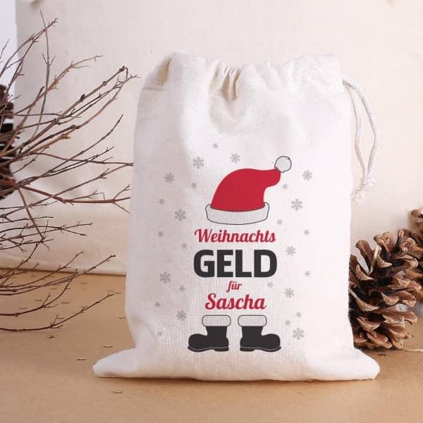 Weihnachtsgeld Geschenksack mit Name
