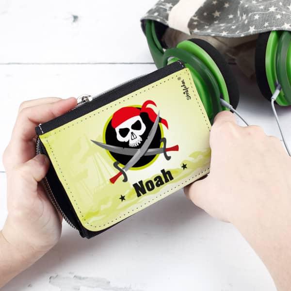 Geldbörse für kleine Piraten mit Wunschname