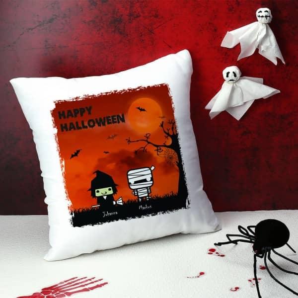 Bedrucktes Kissen zu Halloween mit Figuren zum Auswählen