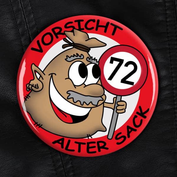 XXL Button Alter Sack zum 72. Geburtstag