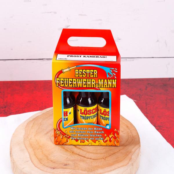 Lösch Tröpfchen Likörbox für Feuerwehrmänner