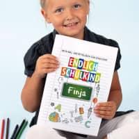 Endlich Schulkind - Malbuch zum Schulanfang mit Name DIN A4