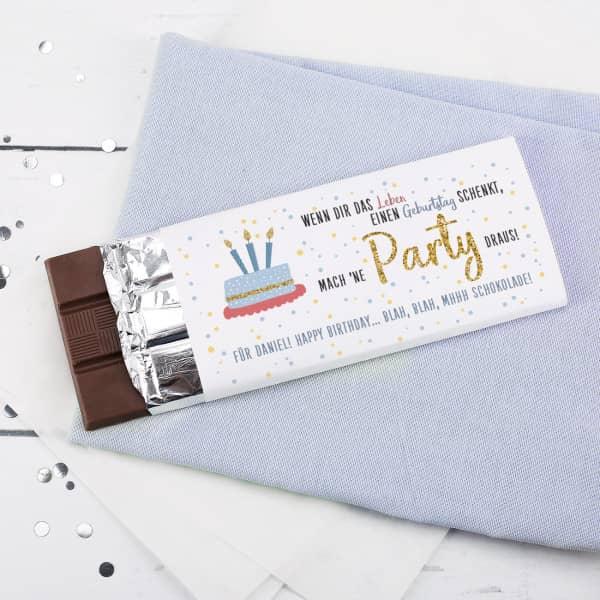 Schokolade zum Geburtstag ...mach 'ne Party draus, 100 g