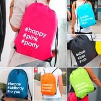 cooler Hashtagbag mit eigenen Hashtags in verschiedenen Farben