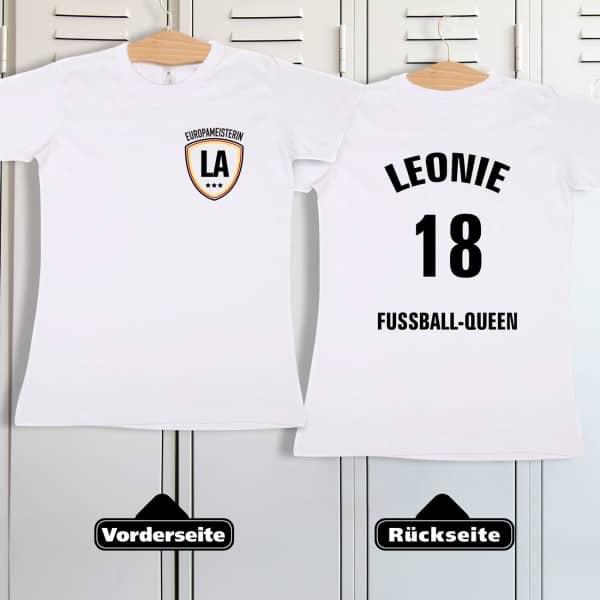 Fußball Europameister Shirt im Trikot Stil für Frauen mit Namen