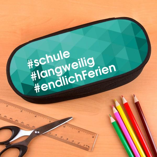 Stiftebox mit Hashtag Motiv und Wunschtexten bedruckt