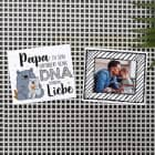 Magnet Set mit Foto für Stiefpapas - Papa zu sein erfordert keine DNA sondern Liebe
