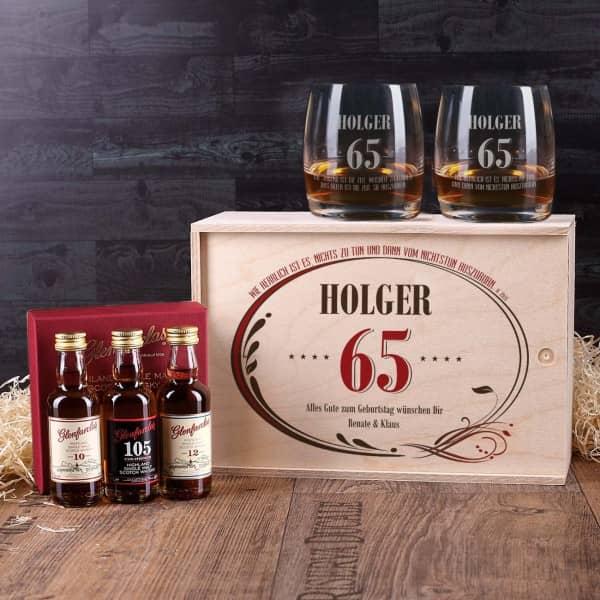 Whisky-Geschenkset zum 65.Geburtstag