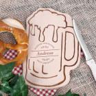 Bierkrug-Brettchen mit Genießermotiv graviert