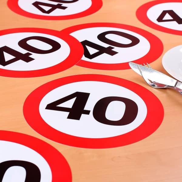 XXL Konfetti Verkehrszeichen 40
