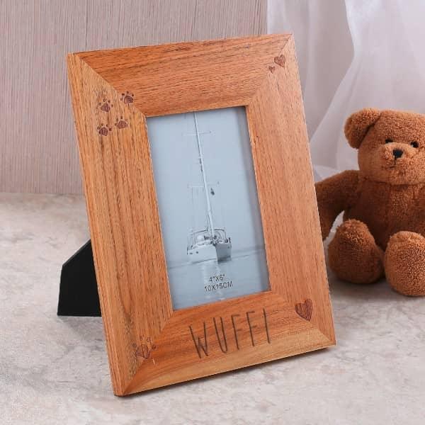 bilderrahmen mit gravur f r ein foto ihres haustieres. Black Bedroom Furniture Sets. Home Design Ideas