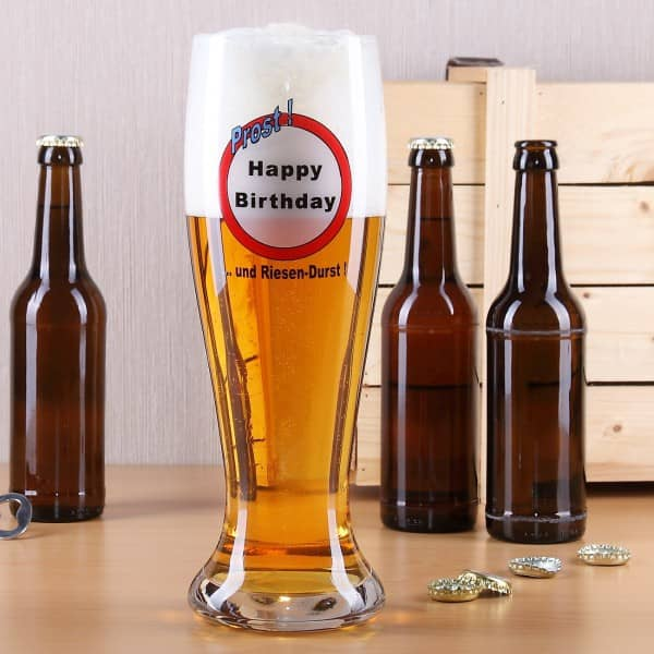 Weizenbierglas XXL mit Aufdruck zum Geburtstag