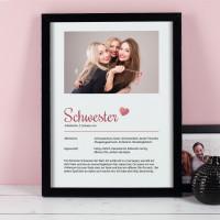 Bilderrahmen für die liebste Schwester