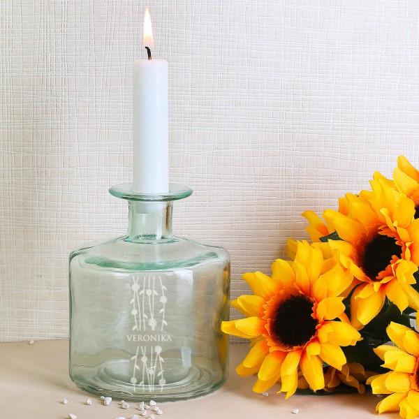Flaschenvase Blumenranke