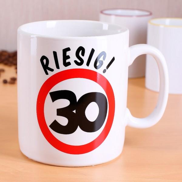 Große Keramiktasse zum 30. Geburtstag