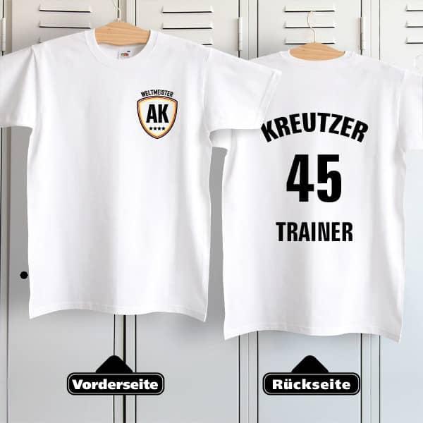 Fußballshirt im Trikot Stil mit Name, Initialen und Position