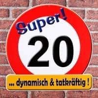 Riesiges Schild Super! 20