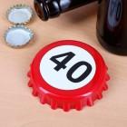 Flaschenöffner zum 40. Geburtstag mit Magneten