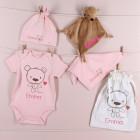 Teddy-Geschenkset für Mädchen zur Geburt