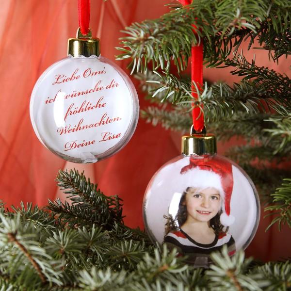 Vorder- und Rückseite der Weihnachtsdekoration