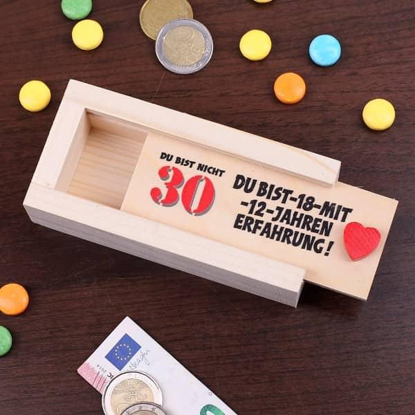 Geldkiste zum 30. Geburtstag