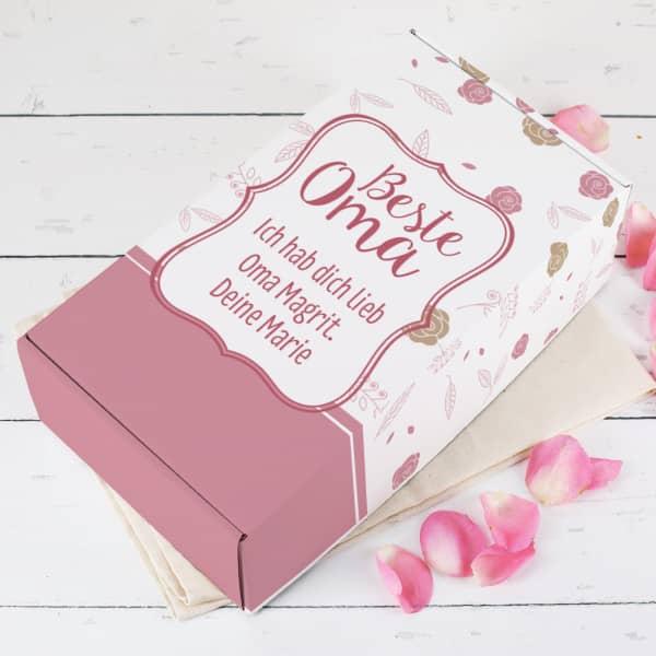 Geschenkbox für die Beste Oma mit Wunschtext
