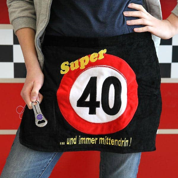 Schürze mit Öffner Super 40