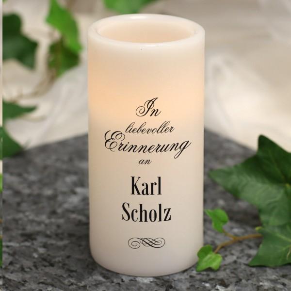 Trauerkerze - In liebevoller Erinnerung an -
