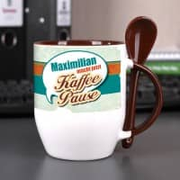 Tasse Kaffeepause mit Ihrem Wunschnamen