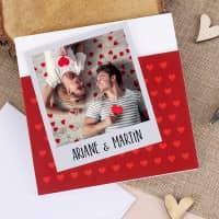 Valentinstags - Klappkarte mit Ihrem Foto und Wunschtext
