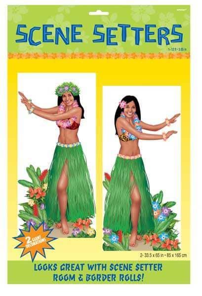 2 Dekofolien Hula Tänzerin