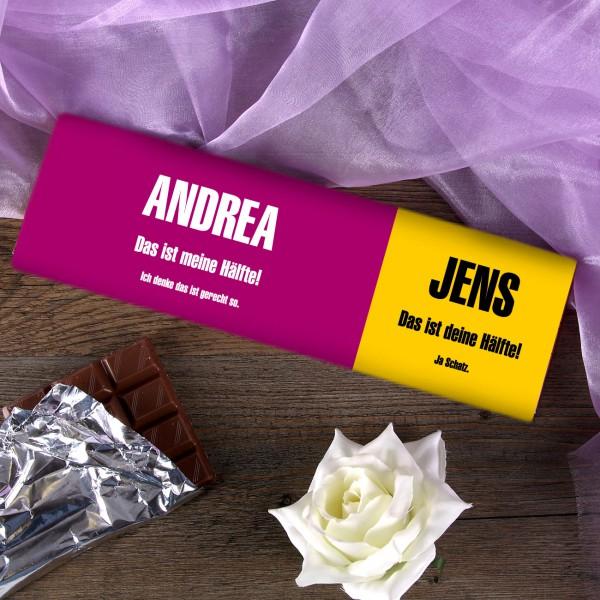 XL Schokolade für das gerechte Teilen für Paare