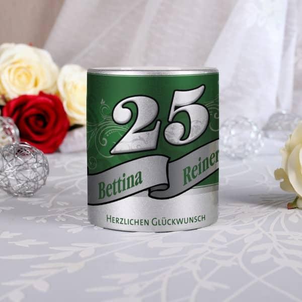 Tasse zur Silbernen Hochzeit