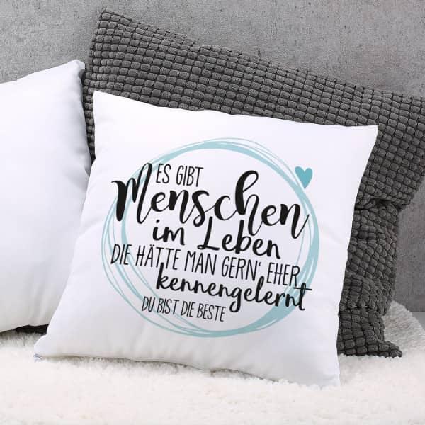 kissen f r besondere menschen mit wunschtext. Black Bedroom Furniture Sets. Home Design Ideas