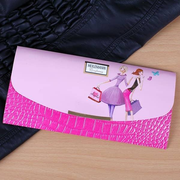 Clutch in pink und rosa