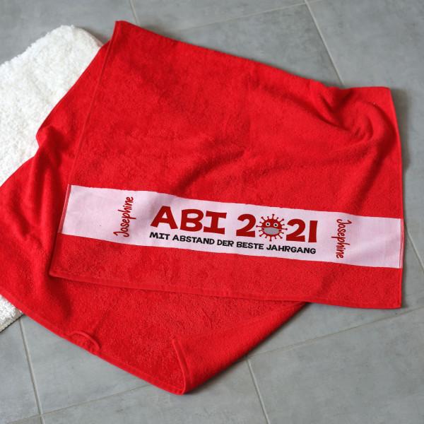 ABI 2021 - mit Abstand der beste Jahrgang - Badetuch mit Name