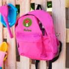 Kinderrucksack in pink mit Glückspilz-Motiv