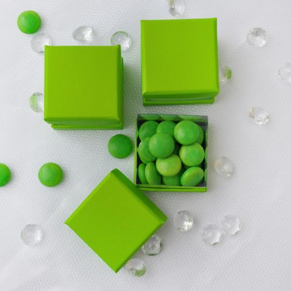 6 kleine Dekoboxen in grün