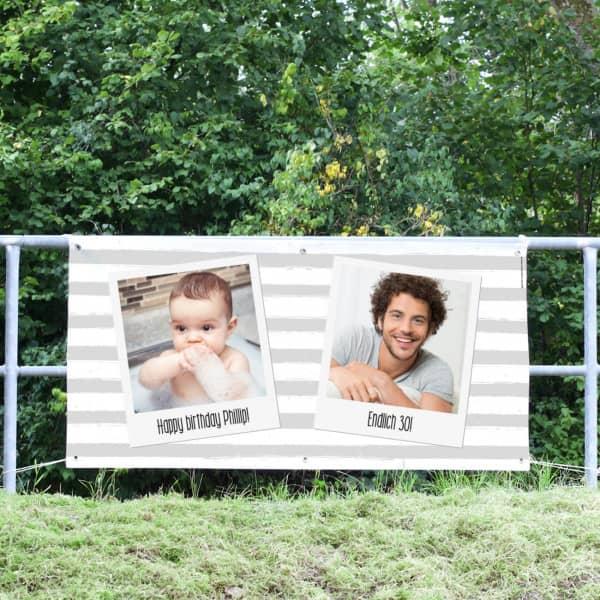 Polaroid Banner mit Fotos bedruckt