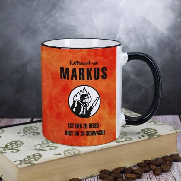 Kaffeetasse für Feuerwehrmänner