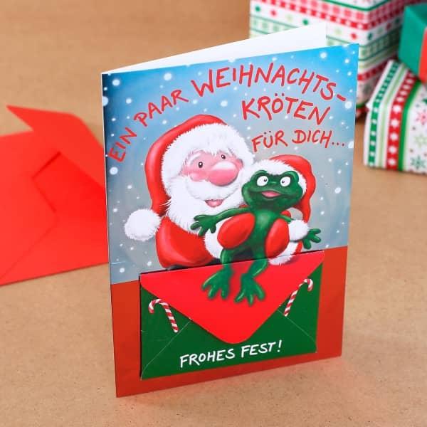 Grußkarte mit Geldumschlag zu Weihnachten