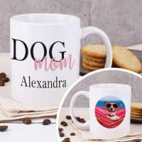 Dog Mom | Dog Dad - Fototasse mit Ihrem Wunschnamen